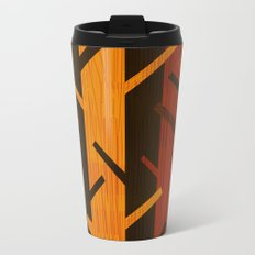 Retro Fall Woods by Friztin Metal Travel Mug
