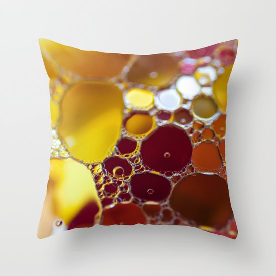 Colourful bubbles Throw Pillow