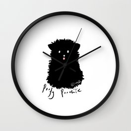 Poofy Poochie Wall Clock