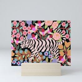 flower tiger Mini Art Print