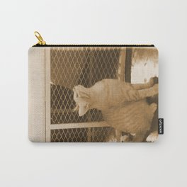 Cat Observe Spotted Carry-All Pouch