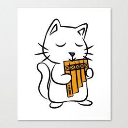 Cat girl panpipe music Kinder Band Gift Canvas Print