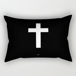 White Cross Rectangular Pillow