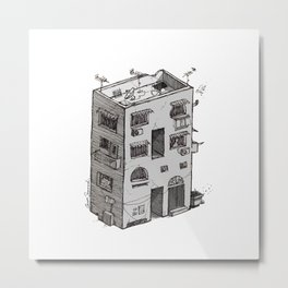 A - Alphabet Town Metal Print