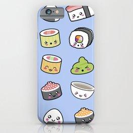 Happy kawaii sushi pattern iPhone Case