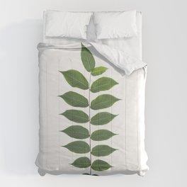 Green Leaf Botanical Print Comforters