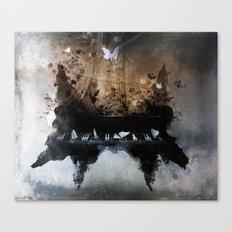 Piandemonium - Piano Rorschach Canvas Print