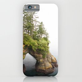 Cape Flattery Arch Ocean Rock Geology Washington Cliff Hiking Forest Trees iPhone Case