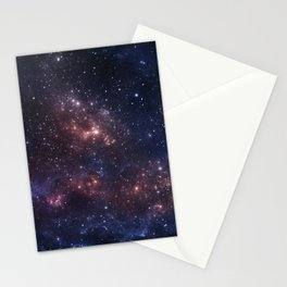Stars and Nebula Stationery Cards