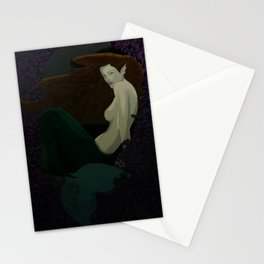 Mermaid in Purple Reef Stationery Cards
