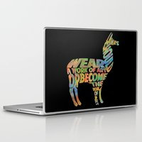 lama Laptop & iPad Skins featuring Lama by Julia Lake Art Designs