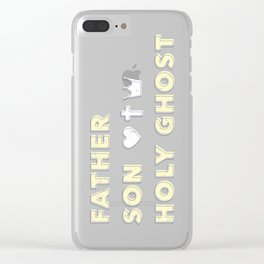 Father, Son, Holy Ghost - Pink Clear iPhone Case