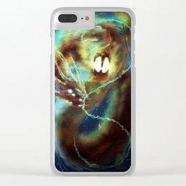 Nebula Dragon Clear iPhone Case