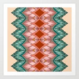 Diamond Leaves Pattern Art Print