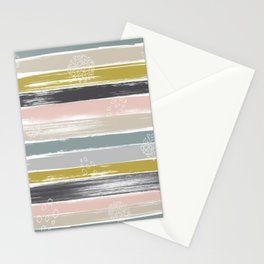 Fragments, Brushstrokes and Circles Stationery Cards