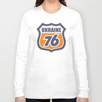 ukraine Long Sleeve T-shirts featuring DgM UKRAINE 76 by DgMa