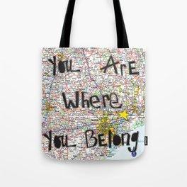 Where You Belong-Houston Tote Bag