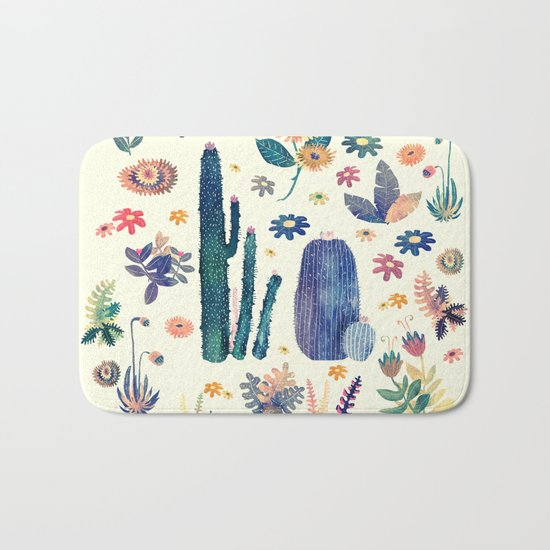 cactus king and queen 2 Bath Mat