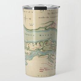 Attacks of Fort Washington Map (November 16, 1776) Travel Mug