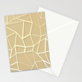 Floating Shapes Gold - Mid-Century Minimalist Graphic Stationery Cards