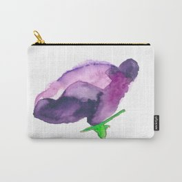 """""""Lisianthus""""  in Watercolor Carry-All Pouch"""