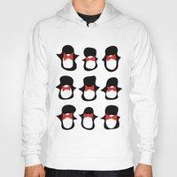 penguins Hoodies featuring Penguins by Flash Goat Industries