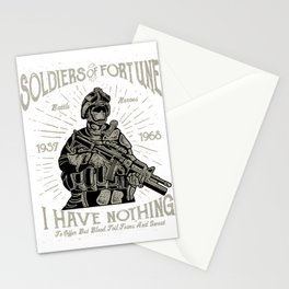 Soldiers Of Fortune Battle Heroes Stationery Cards
