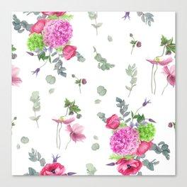Hydrangeas and anemones Canvas Print
