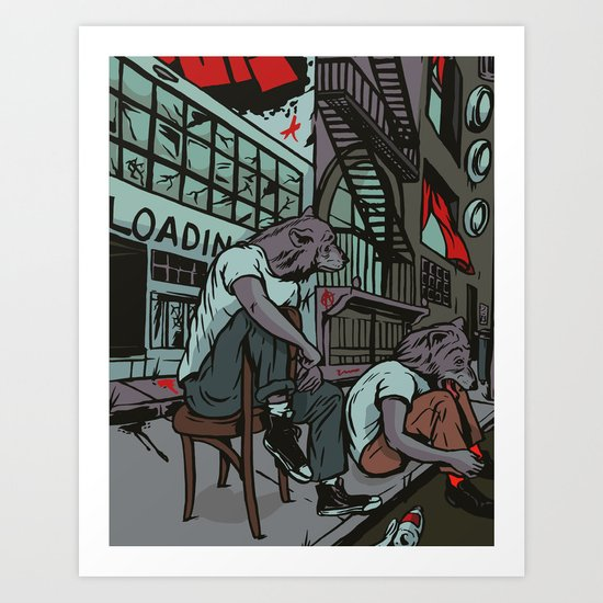 Them City Wolves Art Print