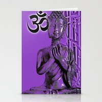 om Stationery Cards featuring OM by Enri-Art