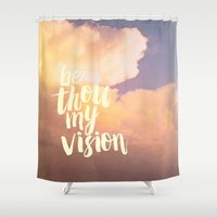 scripture Shower Curtains featuring MY VISION by Pocket Fuel