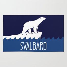 Svalbard Dark Season Travel Poster - Norway Rug