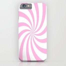 Spiral (Pink & White Pattern) iPhone Case