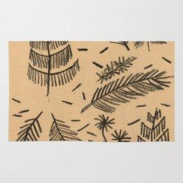 Kraft Paper Pine Rug