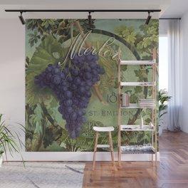 Wines of France Merlot Wall Mural