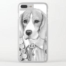 Eagle Beagle Clear iPhone Case