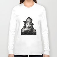 johnny depp Long Sleeve T-shirts featuring johnny depp by sophia derosa