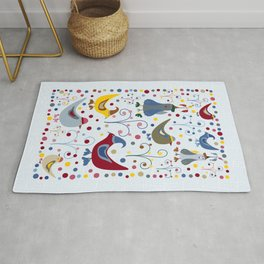 Chilly Silly Winter Birds! Rug