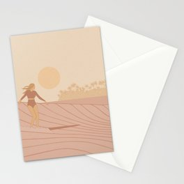 Sunset surf in Ceylon Stationery Cards