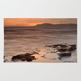 """""""Last red light"""" Sunset at the sea Rug"""