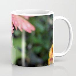 Pink Gerber Daisy Side Coffee Mug