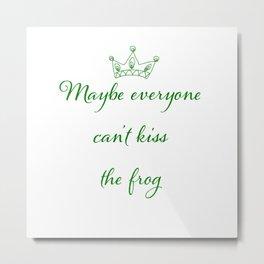 Kiss the frog Metal Print