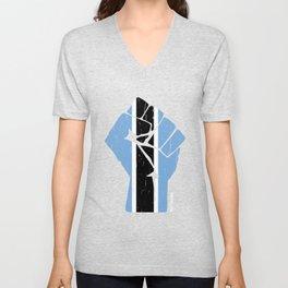 Team Botswana Flag T Shirt Unisex V-Neck
