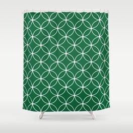 Crossing Circles - Fern Green Shower Curtain