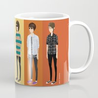 tegan and sara Mugs featuring Tegan and Sara: Tegan collection by Cas.