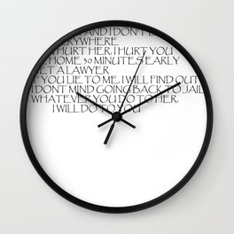 Rules for dating my daughter Wall Clock