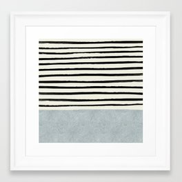 Silver x Stripes Framed Art Print