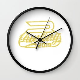 curling winter sports curler game ice sports gift Wall Clock