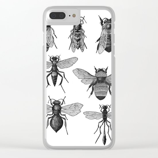 Bees and Wasp Clear iPhone Case