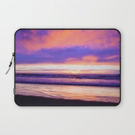 Sunset Moods at the Beach by Reay of Light Photography Laptop Sleeve